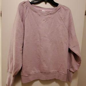 GAP ladies pink/gray washed sweatshirt. Size Large